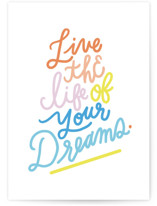 This is a colorful birthday cards for kid by Marabou Design called Dream On with standard printing on signature in greeting cards.