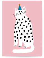 This is a pink birthday cards for kid by Lena Erysheva called Purrrfect Birthday with standard printing on signature in greeting cards.