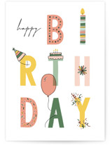 This is a yellow birthday cards for kid by Michelle Taylor called Funday with standard printing on signature in greeting cards.