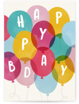 This is a colorful birthday cards for kid by Hooray Creative called Bunches of Fun with standard printing on signature in greeting cards.