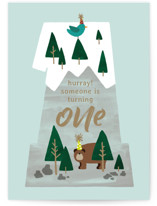 This is a green birthday cards for kid by JeAnna Casper called One Mountain with standard printing on signature in greeting cards.