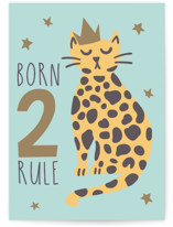 This is a blue birthday cards for kid by Teju Reval called Born 2 Rule with standard printing on signature in greeting cards.