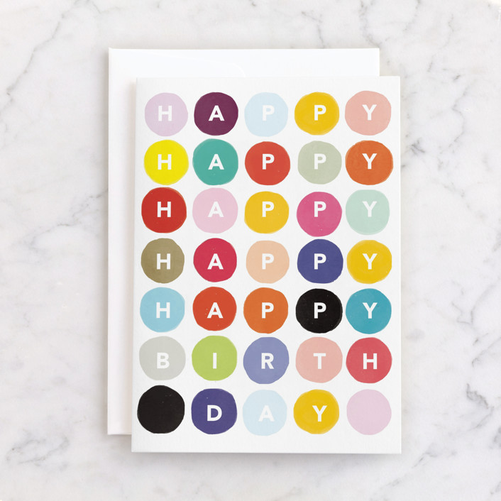 """""""Happy Happy Happy Birthday"""" - Individual Kid's Birthday Greeting Cards in Colorful by Made by Mosa."""