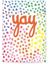 This is a colorful birthday cards for kid by Janet Hirata Stall called Yay Celebrate with standard printing on signature in greeting cards.