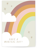 This is a grey birthday cards for kid by Angela Thompson called Rainbow Magic with standard printing on signature in greeting cards.