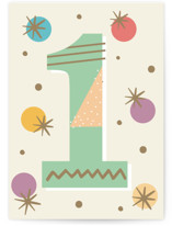 This is a beige birthday cards for kid by Oma N. Ramkhelawan called Mod One with standard printing on signature in greeting cards.