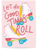 This is a pink birthday cards for kid by Everett Paper Goods called Good Times with standard printing on signature in greeting cards.