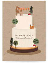 This is a brown birthday cards for kid by Caitlin Considine called Adventures with standard printing on signature in greeting cards.