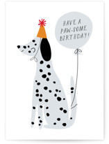 This is a white birthday cards for kid by Angela Thompson called Paw-some Pup with standard printing on signature in greeting cards.