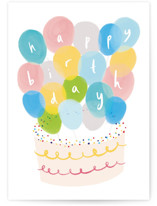 This is a colorful birthday cards for kid by chocomocacino called dango with standard printing on signature in greeting cards.