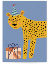 This is a blue birthday cards for kid by Jenna Skead called Spot Birthday with standard printing on signature in greeting cards.