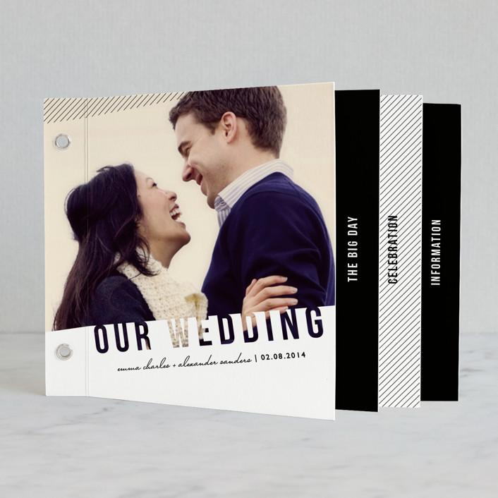 """Simply See Through"" - Modern Minibook Wedding Invitations in White by Lehan Veenker."