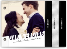 This is a white wedding invitation minibook card by Lehan Veenker called Simply See Through with standard printing on strathmore in minibook.