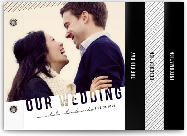 This is a landscape modern, white Wedding Invitations by Lehan Veenker called Simply See Through with Standard printing on Signature Cover in Minibook™ Card Created for you by Minted's global community of designers, our exclusive Minibook