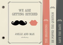 Stache + Kiss Wedding Invitation Minibooks