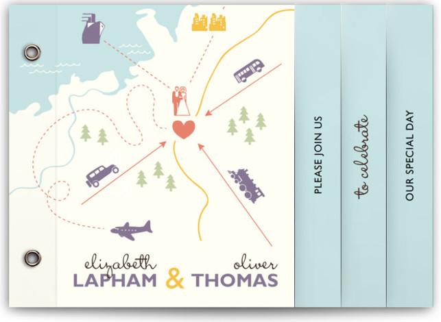Destination Wedding Invitation Minibooks