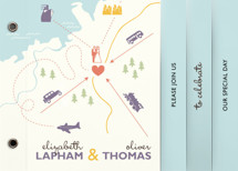 Destination Wedding Invitation Minibooks By leslie hamer