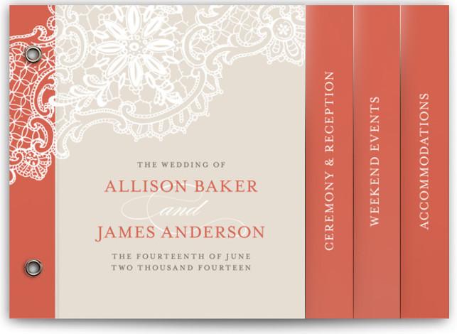 White Lace Wedding Invitation Minibooks