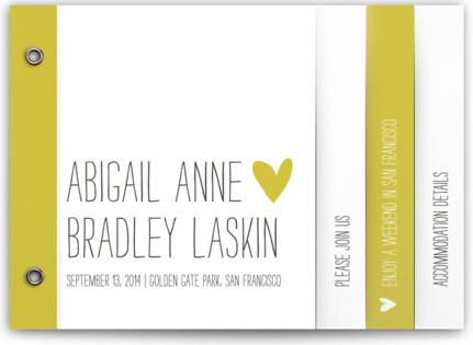 Passing Notes Wedding Invitation Minibooks