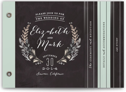 Chalkboard Accents Wedding Invitation Minibooks