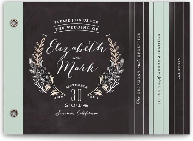 Chalkboard Accents Wedding Invitation Minibooks
