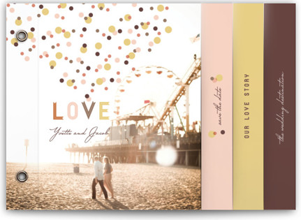 Sweet Confetti Wedding Invitation Minibooks