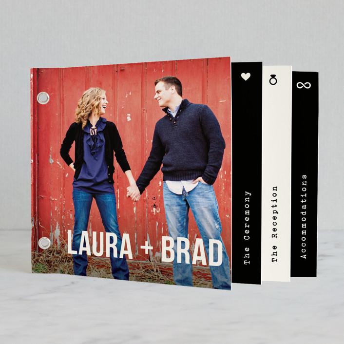 """Modern Union"" - Modern Minibook Wedding Invitations in Black by Hooray Creative."