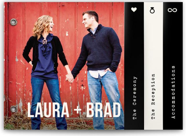 Modern Union Wedding Invitation Minibooks