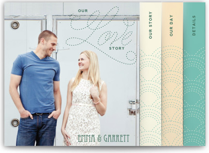 Love Nouveau Wedding Invitation Minibooks