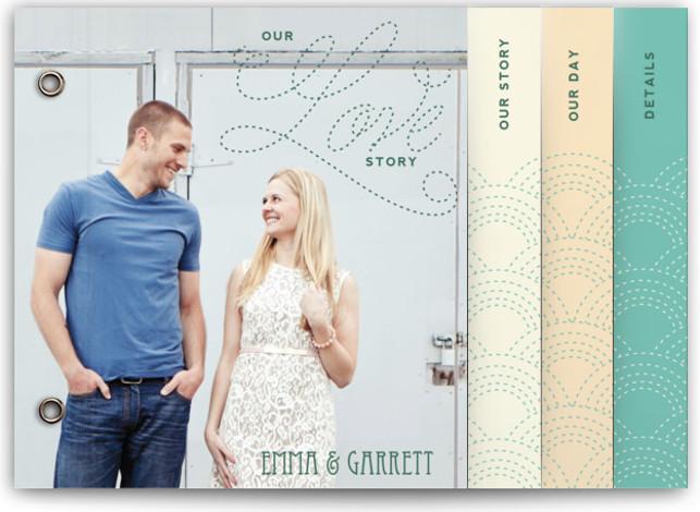 Love Nouveau Wedding Invitation Minibooks