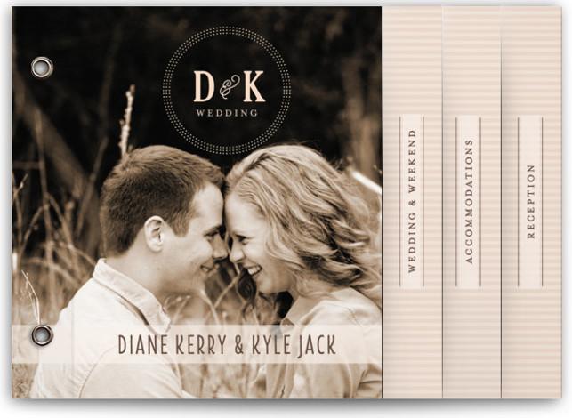 Stracciatella Wedding Invitation Minibooks