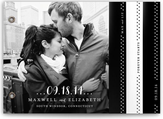 Simple Type Wedding Invitation Minibooks