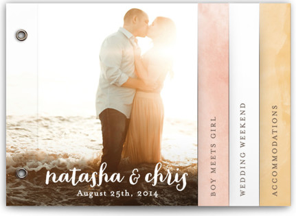 Watercolor Love Wedding Invitation Minibooks