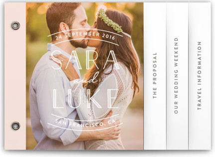 Sweet Embrace Wedding Invitation Minibooks