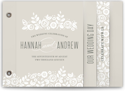 White Shadows Wedding Invitation Minibooks