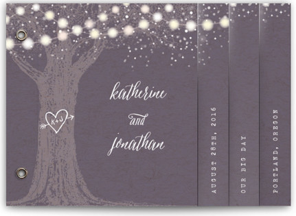 Garden Lights Wedding Invitation Minibooks