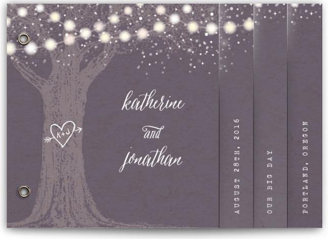 Garden Lights Wedding Invitation Minibooks