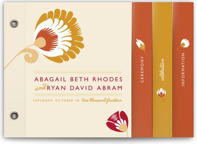 Papercut Wedding Invitation Minibooks