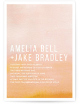 Ombre Wedding Invitation Petite Cards