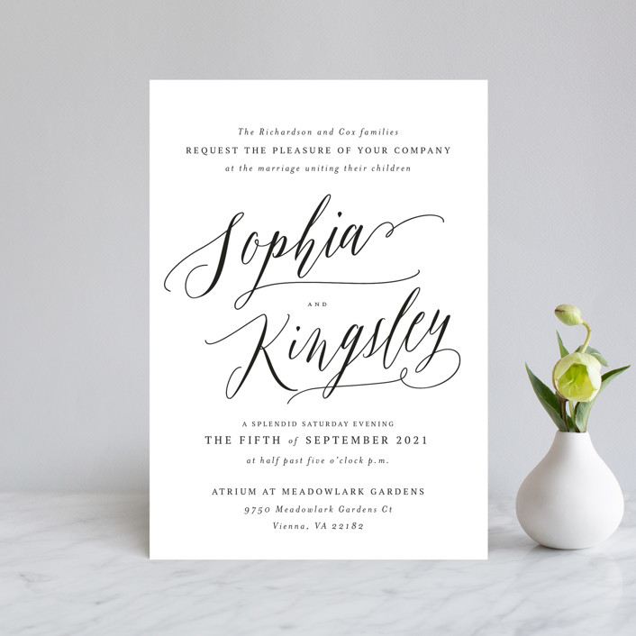 """""""Nothing Compares To You"""" - Wedding Invitation Petite Cards in Cream by Design Lotus."""