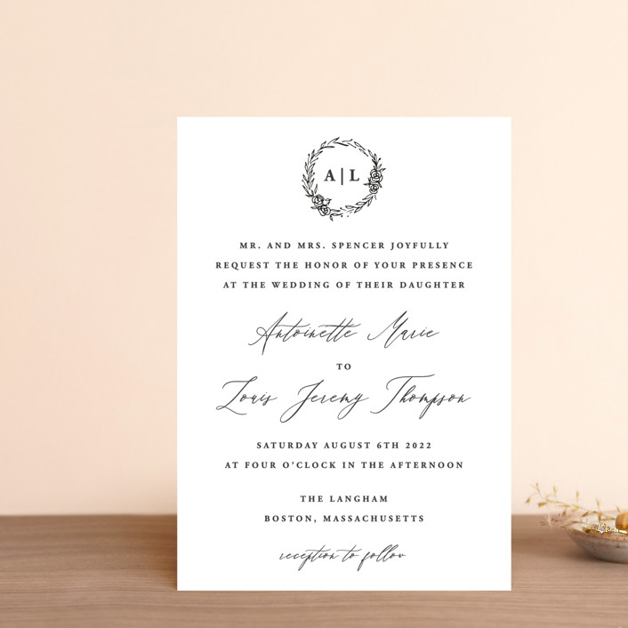 """Antoinette"" - Wedding Invitation Petite Cards in Ivory by lulu and isabelle."