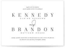 This is a black and white petite wedding invitation by Jessica Williams called The Space Between with standard printing on signature in petite.