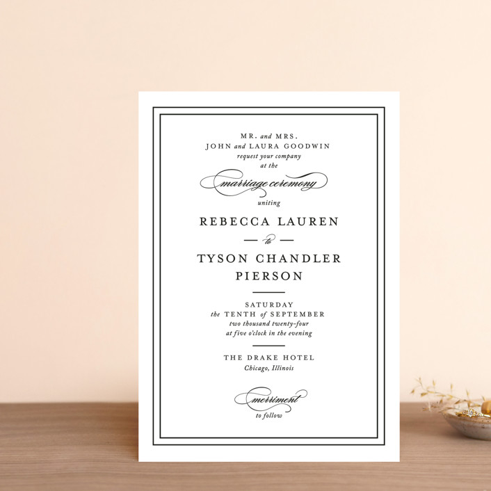 """Eloquence"" - Wedding Invitation Petite Cards in Vanilla by Kimberly FitzSimons."