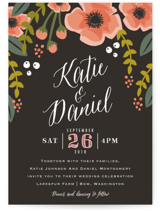 Garden Blooms Wedding Invitation Petite Cards