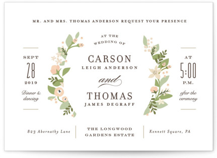 photo of Longwood Estates Wedding Invitation Petite Cards