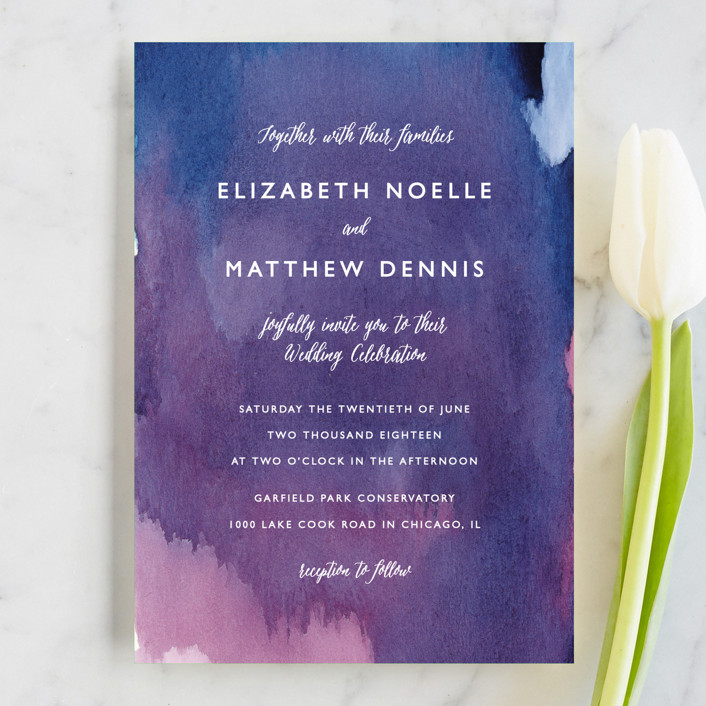 """""""Mulberry"""" - Bohemian Wedding Invitation Petite Cards in Mulberry by Lindsay Megahed."""