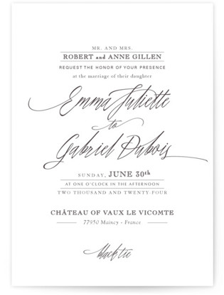 Opulence Wedding Invitation Petite Cards