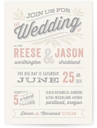 Rustic Charm Wedding Invitation Petite Cards