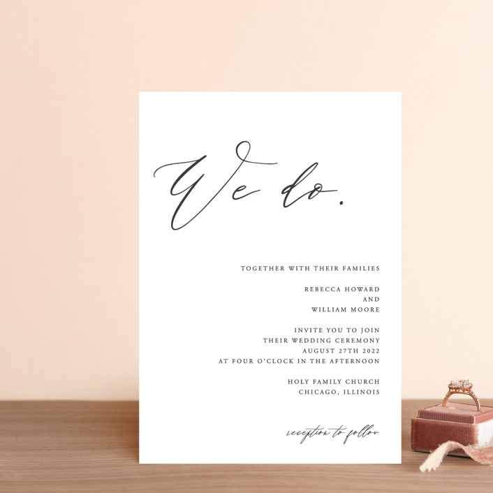 """""""We Do"""" - Wedding Invitation Petite Cards in Ink by lulu and isabelle."""