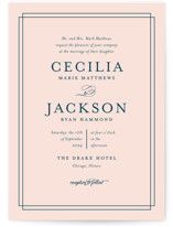 This is a pink petite wedding invitation by Kimberly FitzSimons called Chic Gala with standard printing on signature in petite.